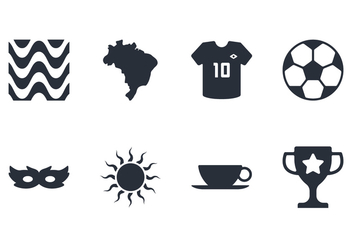 Brazil Icon Set - Free vector #435237