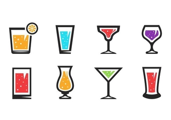 Free Alcoholic Drinks Icons Vector - Free vector #435247