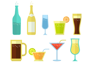 Free Soda and Alcoholic Drink Vector Collection - бесплатный vector #435257