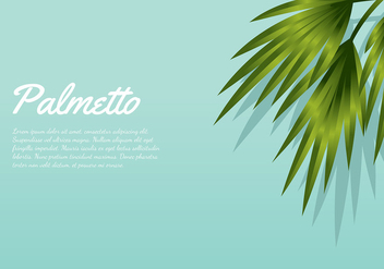 Palmetto Aqua Background Free Vector - vector gratuit #435267