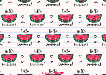 Hello Summer Vector Background - vector gratuit #435307