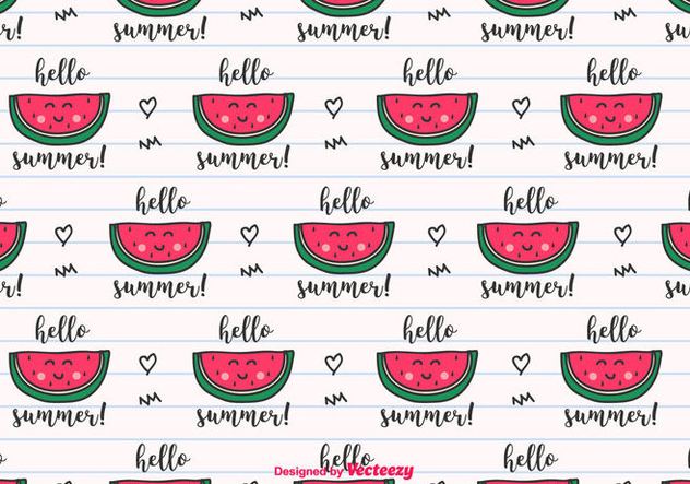 Hello Summer Vector Background - бесплатный vector #435307