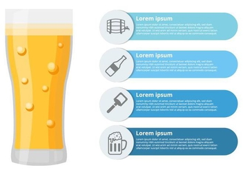 Free Beer Infographic Vector - Free vector #435317