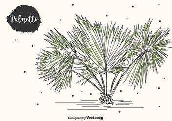 Hand Drawn Palmetto Vector Background - бесплатный vector #435327