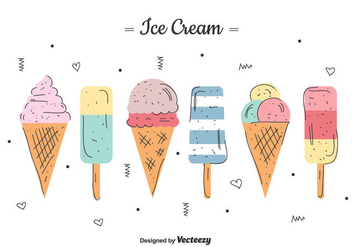Free Ice Cream Set - vector #435337 gratis