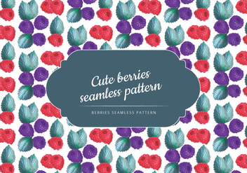 Vector Hand Drawn Berries Seamless Pattern - Free vector #435347