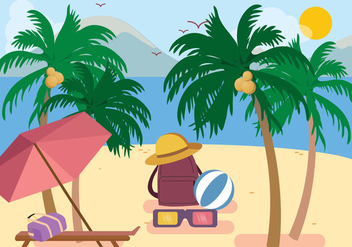 Palm Beach Vector - Free vector #435387