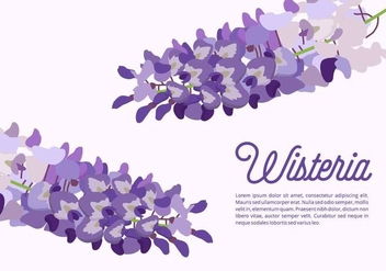 Wisteria Background - бесплатный vector #435407