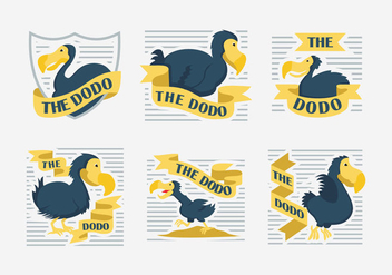 Dodo Character Label Vector Illustration - vector gratuit #435437