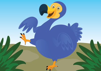 Dodo Bird Vector Background - Free vector #435487
