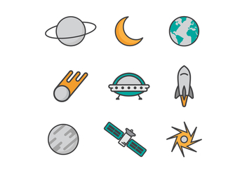 Free Astronomy Vector Icons - Free vector #435537