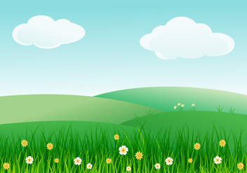 Beautiful Spring Landscape Illustration - Free vector #435567