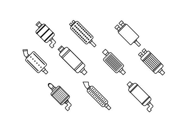 Free Muffler Line Icon Vector - Free vector #435577