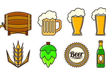 Set Of Cerveja Icons - Kostenloses vector #435597
