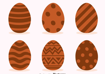 Delicious Chocolate Easter Eggs Vectors - vector gratuit #435767
