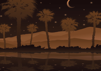 Palmetto Night Free Vector - бесплатный vector #435777