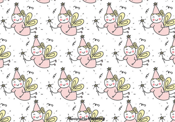 Hand Drawn Fairy Vector Pattern - vector #435787 gratis