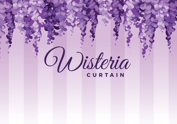 Hanging Wisteria Background Vector - vector gratuit #435807