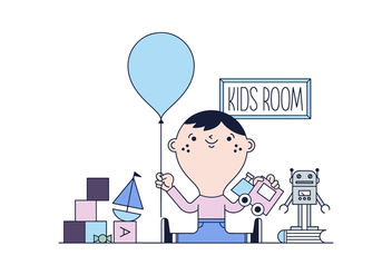 Free Kid Room Vector - vector gratuit #435837