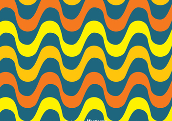 Orange And Yellow Copacabana Wave Pattern Vector - бесплатный vector #435907