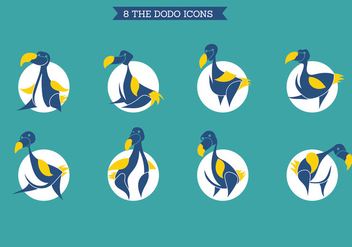 The Dodo Icons Set - vector gratuit #435987