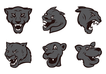Free Panthers Logo Vector Set - Free vector #436007