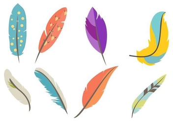 Free Vintage Feather Vector - Free vector #436017