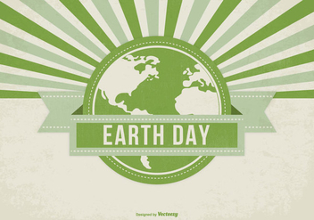 Retro Style Earth Day Illustration - vector gratuit #436137