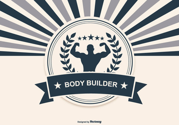 Retro Body Building Illustration - Free vector #436177