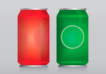 Soda Can Template With Water Vector Bubbles of Air - vector gratuit #436207