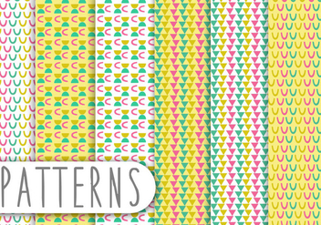Decorative Pattern Set - Free vector #436237