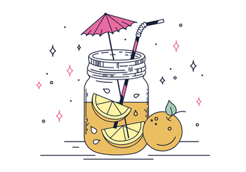 Free Tropical Drink Vector - бесплатный vector #436247