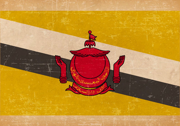 Flag of Brunei on Grunge Background - бесплатный vector #436287
