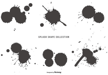Splash Shapes Collection - Free vector #436307