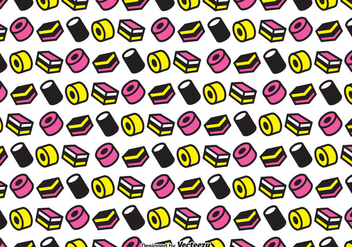 Allsorts Licorice Seamless Vector Pattern - Free vector #436347