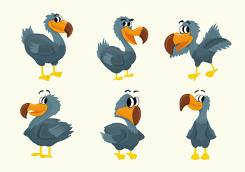 Dodo Cartoon Character Pose Vector Illustration - vector gratuit #436397