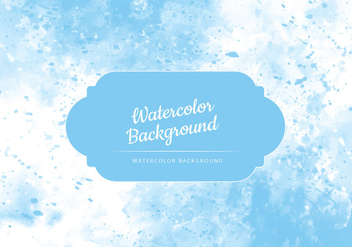 Vector Light Blue Watercolor Background - Kostenloses vector #436427