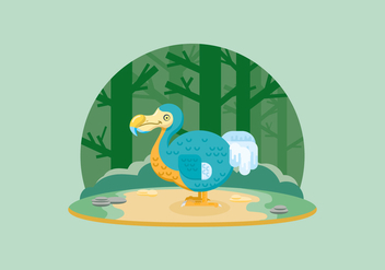 Dodo In The Jungle Illustration - Free vector #436597