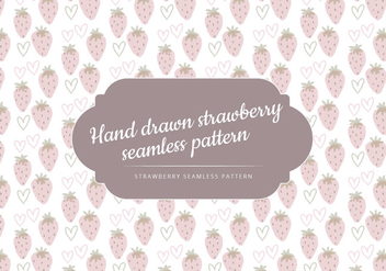 Vector Hand Drawn Strawberries Pattern - vector gratuit #436607