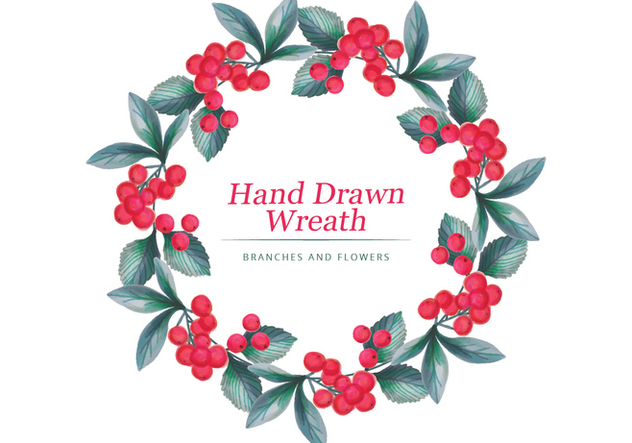 Vector Hand Drawn Wreath - vector #436617 gratis