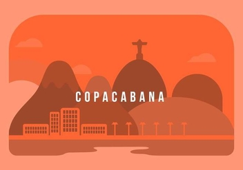 Copacabana Background - бесплатный vector #436637