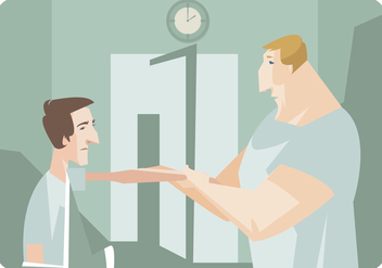 Patient Getting Hand Therapy Vector - vector #436687 gratis