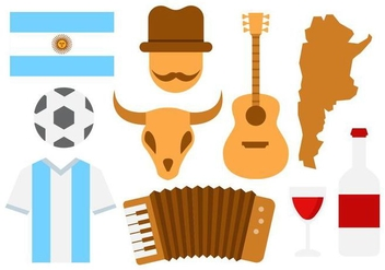 Free Argentina Icons Vector - Kostenloses vector #436697