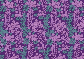 Wisteria Pattern Purple Vector - Free vector #436707
