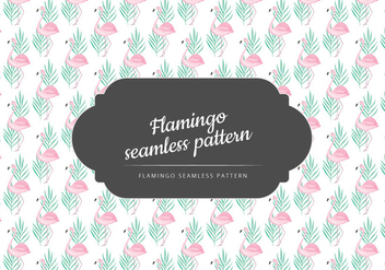 Vector Hand Drawn Flamingo Pattern - vector gratuit #436747