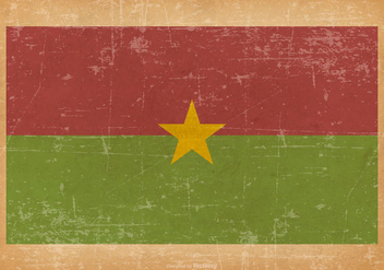 Flag of Burkina Faso on Grunge Background - бесплатный vector #436767