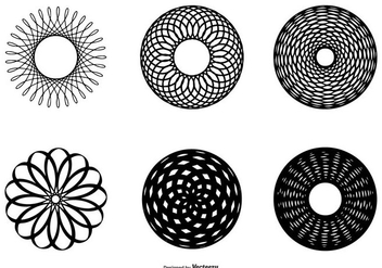 Abstract Circle Shape Collection - vector gratuit #436777