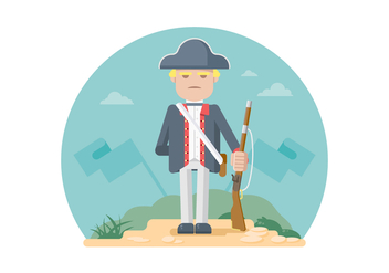 Colonial Soldier Illustration - бесплатный vector #436797