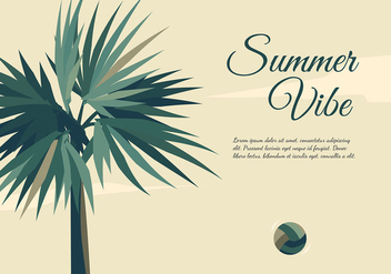 Palmetto Summer Vibe Free Vector - бесплатный vector #436807