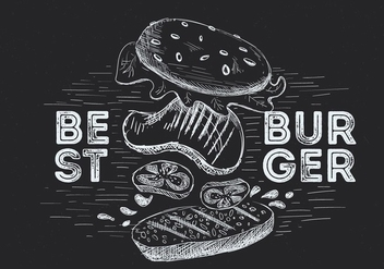 Free Hand Drawn Vector Burger Illustration - Free vector #436837